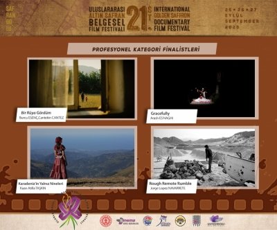 21.ALTIN SAFRAN FİLM FESTİVALİ PROFESYONEL KATEGORİ FİNALİSTLERİ AÇIKLANDI