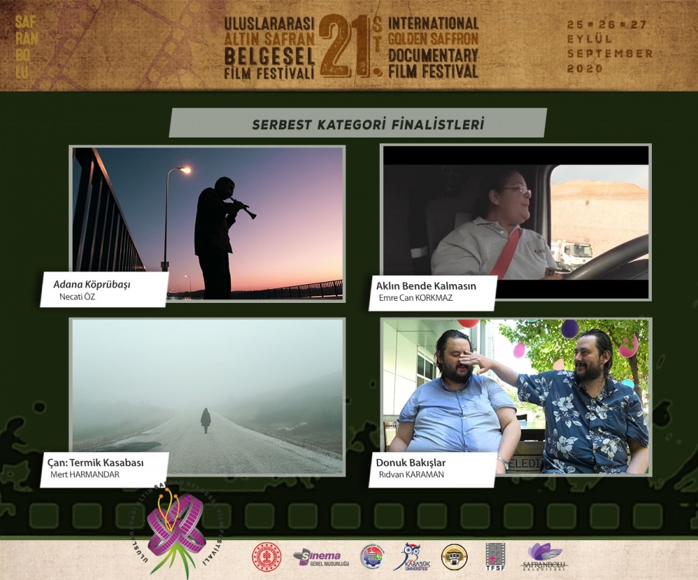 21.ALTIN SAFRAN FİLM FESTİVALİ SERBEST KATEGORİ FİNALİSTLERİ AÇIKLANDI